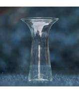 Váza sklo konus s otvoreným golierom číra 28cm