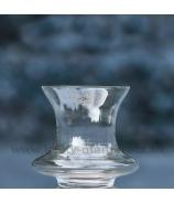 Váza Sandra Rich rozšírené diskové telo číre sklo 19.5 cm