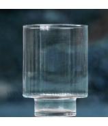 Váza číre sklo valec s valcovým podstavcom 24cm