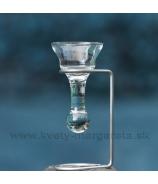 Svietnik tečúci kvapeľ v kovovom stojane 21 cm