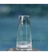 Váza Sandra Rich zrezaný kúžel číre sklo 12cm
