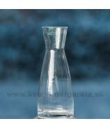 Váza Sandra Rich úzky rovný valec číre sklo 22cm