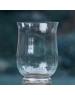 Váza Tulipán s pätkou číre sklo 25cm