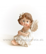 Sediace dievčatko anjelik so sponkou vo vlasoch  5.5 cm