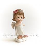 """Dievčatko anjelik na obláčiku """"Tíško"""" 8cm"""