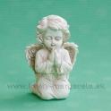 Anjel kľačiaci - modliaci sa krémový 10 cm