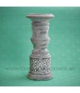 Svietnik kalich KELT sivý cement 26 cm