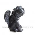 Anjel sediaci opretý o koleno Grafitová čierna metaloplastika 18 cm