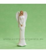 Anjel pridržiavajúci srdce biely 16 cm