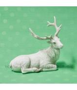 Biely Jeleň s parožím ležiaci 16cm