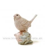Vtáčik sediaci na lieskovom oriešku 8cm