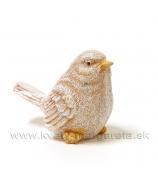 Vtáčik glitrovaný okrový 6cm