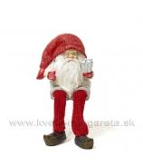 Dedo Mráz sediaci s darčekom 17cm