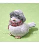 Vtáčik v čiapke so šálou 12cm