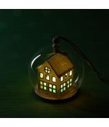 Domček v sklenenej bublinke záves 7cm
