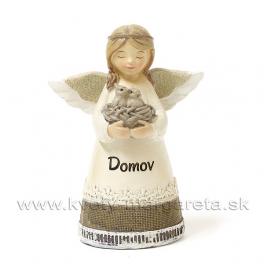 """Anjel Dievčatko Miništrant s hniezdom """"DOMOV"""" 17cm"""