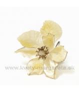 Magnólia Satén krátka s bočnými taftovými lupienkami vanilkovo-žltá
