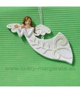 Závesný anjel s píšťalou plochý 13cm