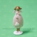 Anjel dievčatko so srdcom na retiazke rúžové šaty 10cm