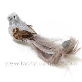 Vtáčik sivé telo a karamelový chvost 15 cm