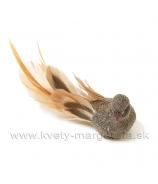 Vtáčik hnedé telo a karamelový chvost 12 cm