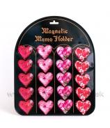 Magnetky Valentínske srdcia a ruže 20 kusov s magnetickou tabuľou