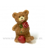 Macko Valentín s ružou 5 cm
