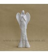 Anjel kvetinové šaty 22 cm biela