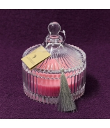 Vonná sviečka vo flakóne CHAPITO - Ruža