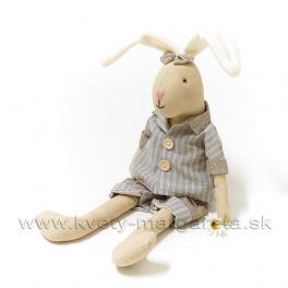 Sediaci zajko ušiak v kraťasoch 26cm