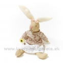 Sediaca zajačica v čipkovej sukni 27cm