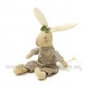 Sediaci zajko ušiak v nohaviciach s kapsou 27cm hnedý