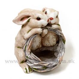 Túliaci sa zajkovia nesúci košík - magnéziove lamino 35 cm