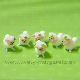 Ovečky so štvorlístkom 6 kusov 5cm