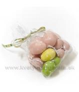 Veľkonočné vajíčka - kraslice s bodkami farebný a veľkostný mix 20 kusov