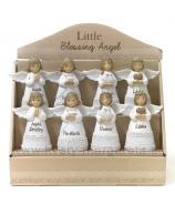 Anjelici Bieli Miništranti s prianím 4 typy v display boxe 11 cm