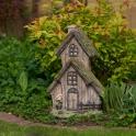 Domček do záhrady imitácia drevo s machom 45cm