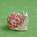 Slimáčik ružička s kvetinovou ulitou 5cm