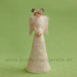 Anjelik s drdolmi a labutienkou biely 23cm