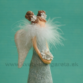Anjelik s drdolmi a labutienkou Antik zelená 23cm
