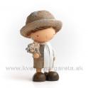 Anime Chlapček Elegán v klobúku 18cm