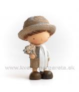 Chlapček Elegán v klobúku Animé