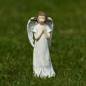Anjelik medúza modliaci sa biely 15cm