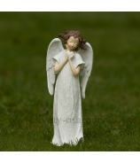 Anjel Medúza zvierajúci srdce biely 23cm