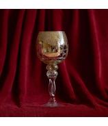 Sklenená čaša svietnik Guľa Spiral 30cm Zlatá
