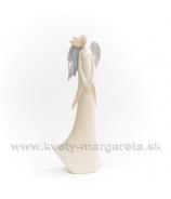 Anjel Silver Wind spojené ruky 30cm