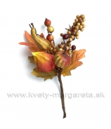 Jesenná vetvička s tekvicami a fisalisom 15cm